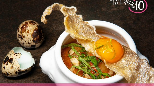 Mami-Thai de trucha del Restaurante Ansils, primer premio del concurso de Tapas de 10 de la  Comarca de la Ribagorza
