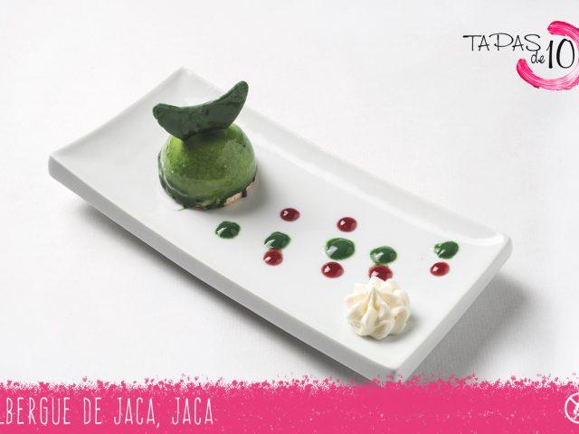 """Tapa-Postre """"Green Moon"""" del Albergue de Jaca"""