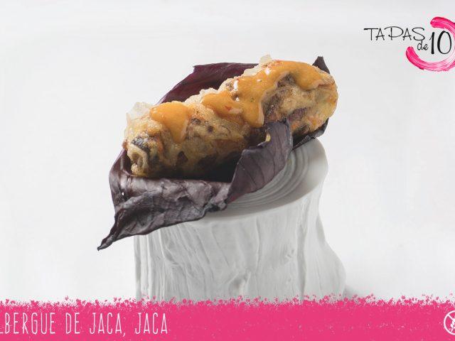 """Tapa """"Cha-Gio Crujiente"""" del Albergue de Jaca"""
