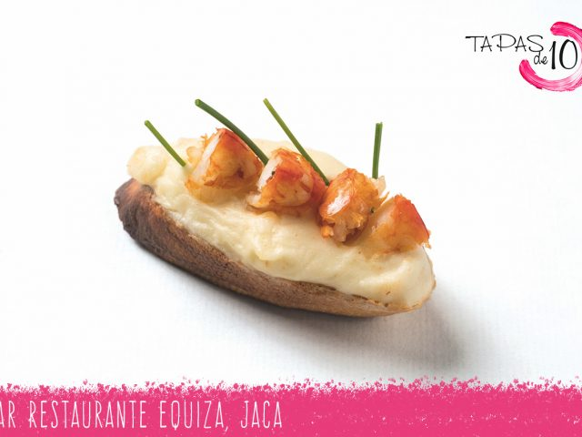"Tapa ""Izarbe"" del Bar Restaurante Equiza"