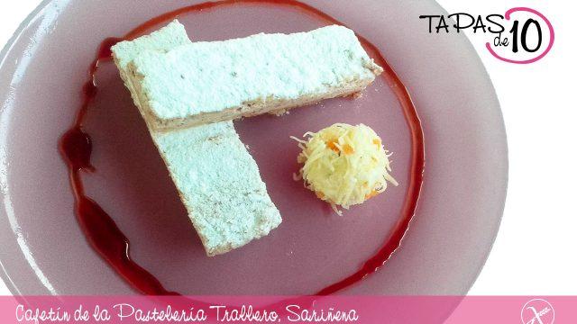 Mejor tapa de Monegros para Cafetín de la Pastelería Trallero con su «Ruso al foie con reducción de pedro ximénez»