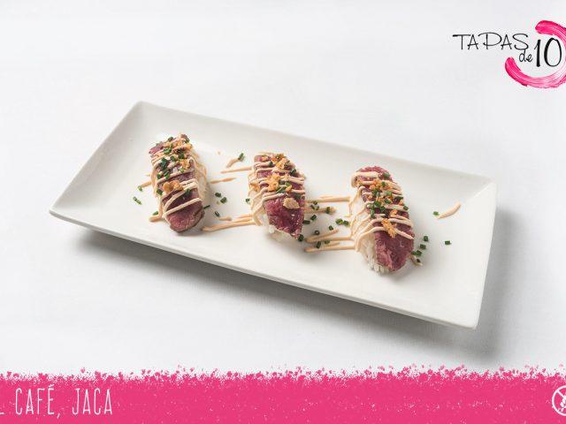 """Tapa """"Sashimi de Buey"""" de El Café"""