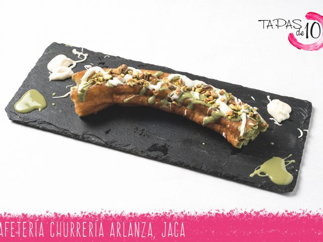 "Tapa Postre ""Churro Relleno"" de la Cafetería-Churrería Arlanza"