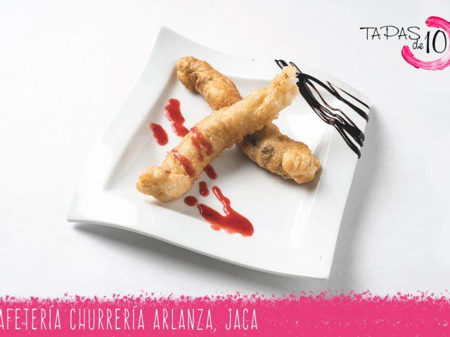 """Tapa """"Rollitos Mar y Montaña"""" de la Cafetería-Churrería Arlanza"""