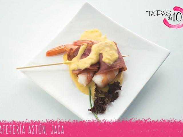 """Tapa """"Gamba Tropical"""" de Cafetería Astún"""