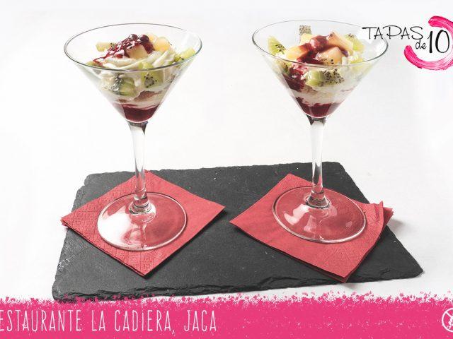 """Tapa-postre """"Paulova"""" del Restaurante La Cadiera"""