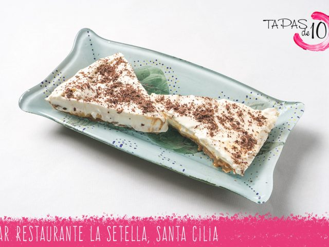 "Tapa-Postre ""Pie Sabusa"" del Bar Restaurante La Setella"