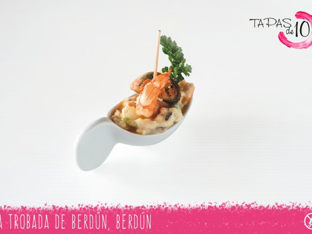 "Tapa ""Bocadito de Mar"" de La Trobada de Berdún"